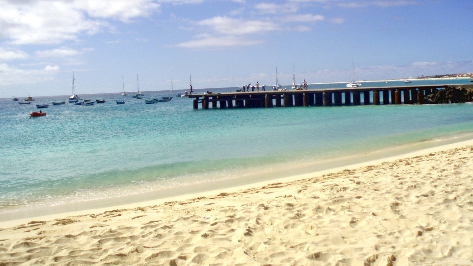 The pier at the beach of Santa Maria in Sal