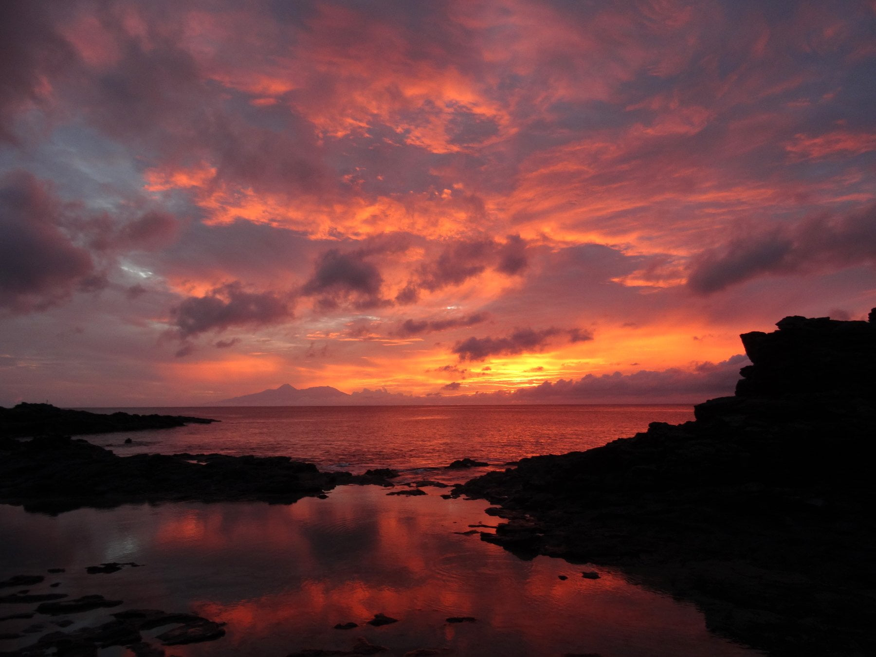 Sunset in Tarrafal on the Island of Santiago, Cabo Verde